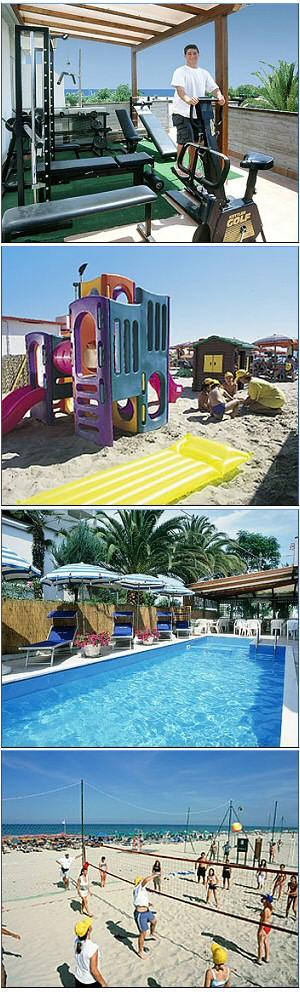 Hotel galf martinsicuro villa rosa prenota hotel a for Cabine al lago della piscina di joe