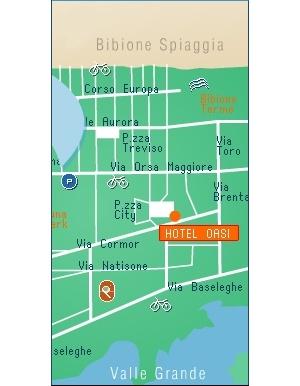 Hotel meubl oasi prenotazione albergo bibione hotel in for Hotel meuble oasi
